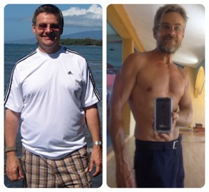 before and after I became a health coach